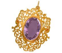 Romance in a Victorian Brooch Pendant