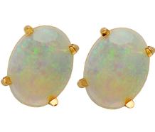 Dancing Opal Solitaire Earrings