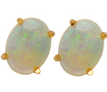 Dancing Opal Solitaire Earrings