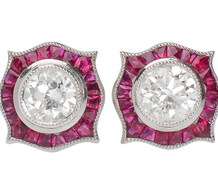 Glitter & Color - Ruby Diamond Earrings