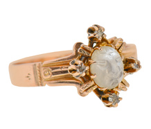 Man in the Moon Moonstone Diamond Ring