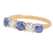 Jones & Woodland Sapphire Diamond Ring