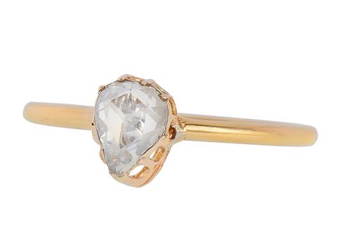 Sophisticated Rose Cut Diamond Ring