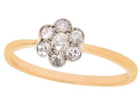 My Petite Flower - Diamond Cluster Ring