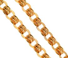 Glittering Decorative Gold Chain Necklace