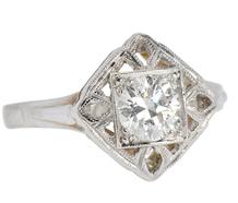 Art Deco Solitaire .70 ct Diamond Ring