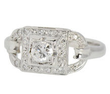 Bewitching Art Deco Diamond Engagement Ring