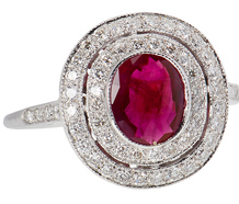 Ruby Tuesday - Diamond Double Halo Ring