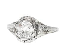On Her Finger - Diamond Engagement Ring