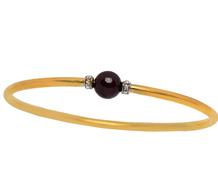 Edwardian Sass - Diamond Garnet Bangle Bracelet
