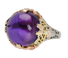 Beyond Compare - Amethyst Art Deco Ring