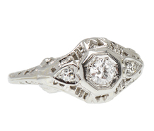 Vintage Three Diamond Engagement Ring