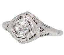 Breathless Art Deco Diamond Engagement Ring