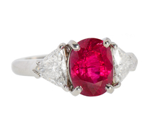 Ruby Resonance & Diamond Trilliant Ring