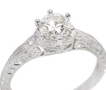Finesse - Antique Diamond Engagement Ring