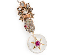 Victorian Bejeweled Hand & Star Pendant