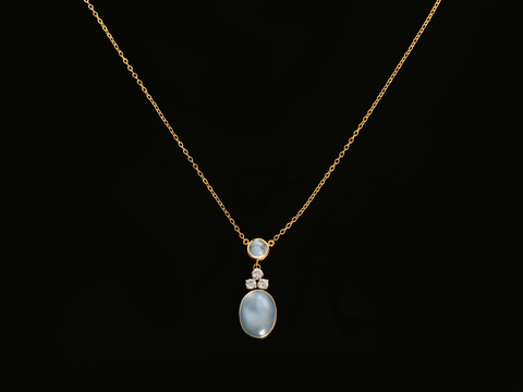 Mystery Tour - Moonstone Diamond Necklace