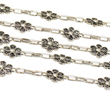 Vintage Silver Filigree Long Chain