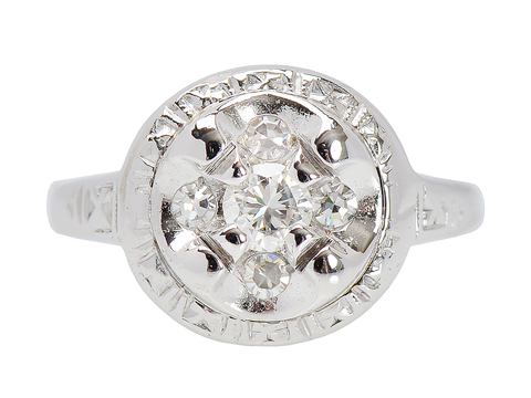 Shimmer - Diamond Cluster Ring