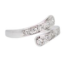 Vintage Diamond Cross Over Ring