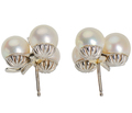 Neiman Marcus Akoya Pearl Diamond Earrings