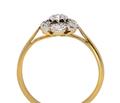 English Flower Cluster Vintage Ring