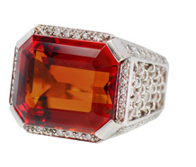 Toast of Madeira Wine - Citrine Diamond Ring