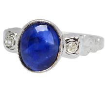 Deep Sky - Sapphire Diamond Ring