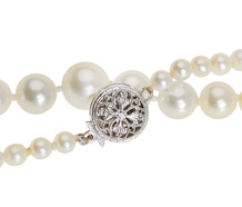 Classic Strand - White Cultured Pearl Necklace