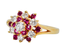 Pirouette Ruby & Diamond Cluster Ring