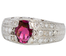 Ruby Royale - Art Deco Diamond Ring