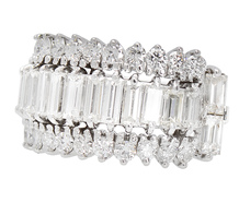Arc of Light - Diamond Baguette Ring