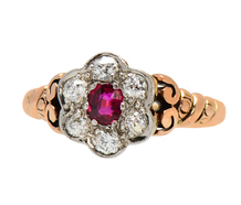 Curls & Swirls - Ruby Diamond Ring