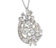 Dynamite Diamond Pendant & Chain 5 Carats +