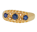 On This Day in 1915 - Sapphire Diamond Ring