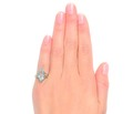 Feminine Marquise Aquamarine Diamond Ring