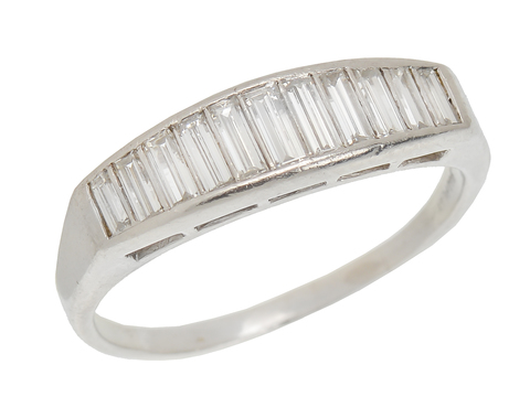 Baguette Diamond Half Eternity Band