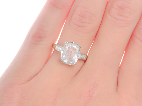 Magnificent 3.04 Golconda Diamond Ring