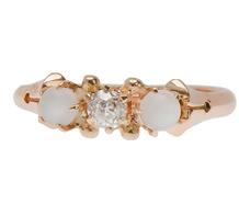 Antique Moonstone Diamond Ring
