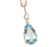 Vintage Aquamarine & Diamond Pendant