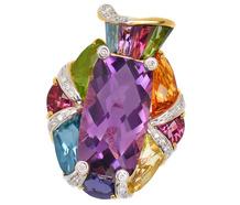 Palette of Gems - Bellarri Pendant in 18k