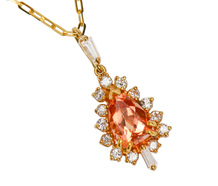 Imperial Topaz & Diamond Pendant