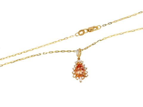 Imperial Topaz & Diamond Pendant