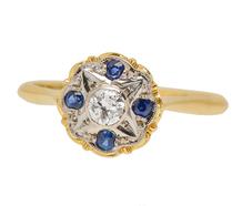 Starry Eyed - Vintage Diamond Sapphire Ring