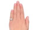 Trifecta in an Art Deco Platinum Ring