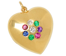 "Acrostic Heart Pendant Locket ""DEAREST"""