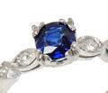 No Heat Sapphire Diamond Engagement Ring