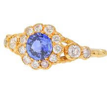 Feminine Flair - Sapphire Diamond Ring