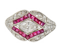 Spotlight on a Diamond Ruby Ring