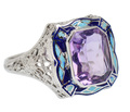 Vintage Finesse in an Amethyst Ring